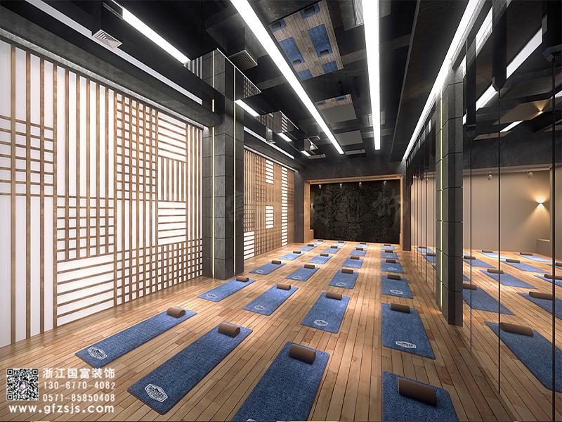 杭州大型健身房设计案例_杭州健身房装修效果图分享-浙江国富装饰